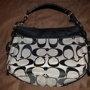 Black COACH hobo style handbag